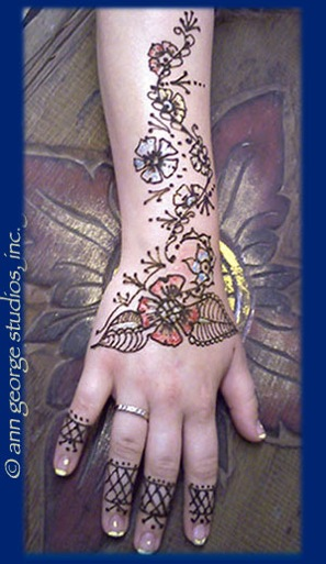 original henna tattoo gilded henna