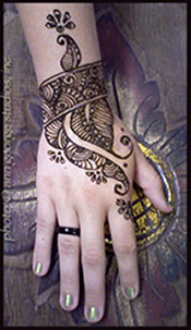 henna tattoo cuff and hand