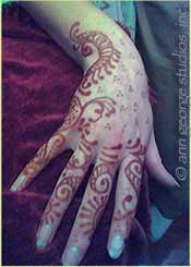 henna tattoo finished color